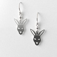 Kangaroo Head Earrings