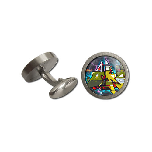 Cufflinks Round Digital Funk