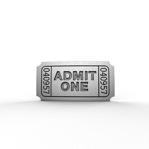 Admit One Ticket Pin