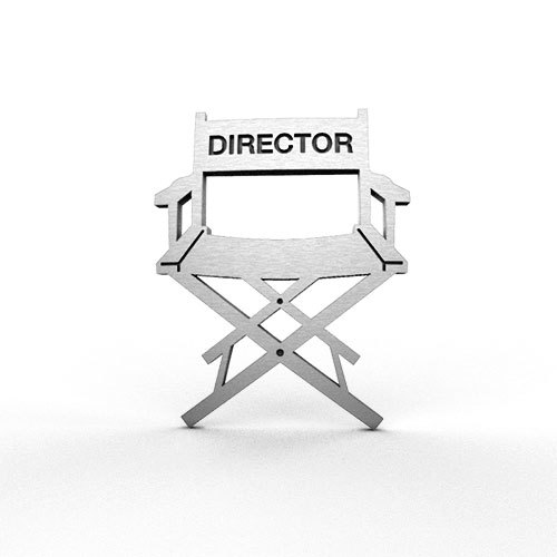 Director Chair Pin