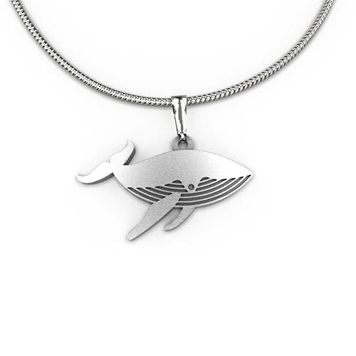 lonning whale product odin sterling pendant by humpback shop silver